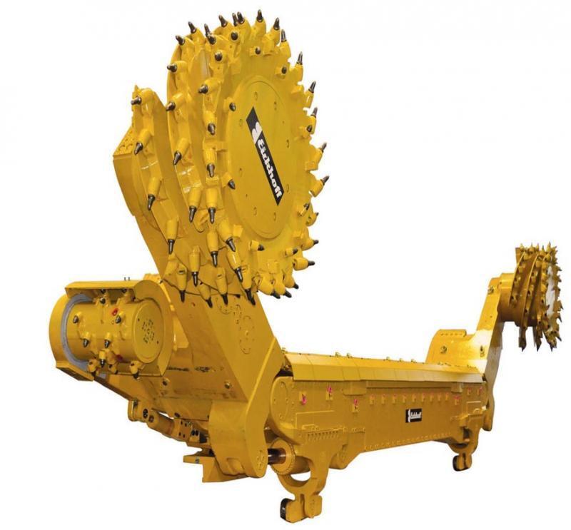 Der Walzenschrämlader SL900 von Eickhoff eignet sich für Flöze mit einer Mächtigkeit zwischen 1,4 m und über 6 m