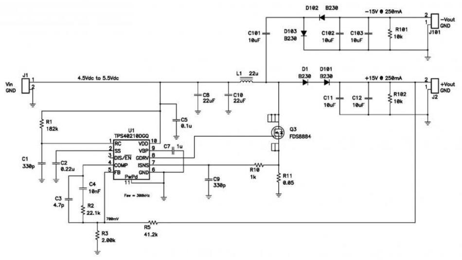 Bild 1: Schaltplan des Aufwärtswandlers
