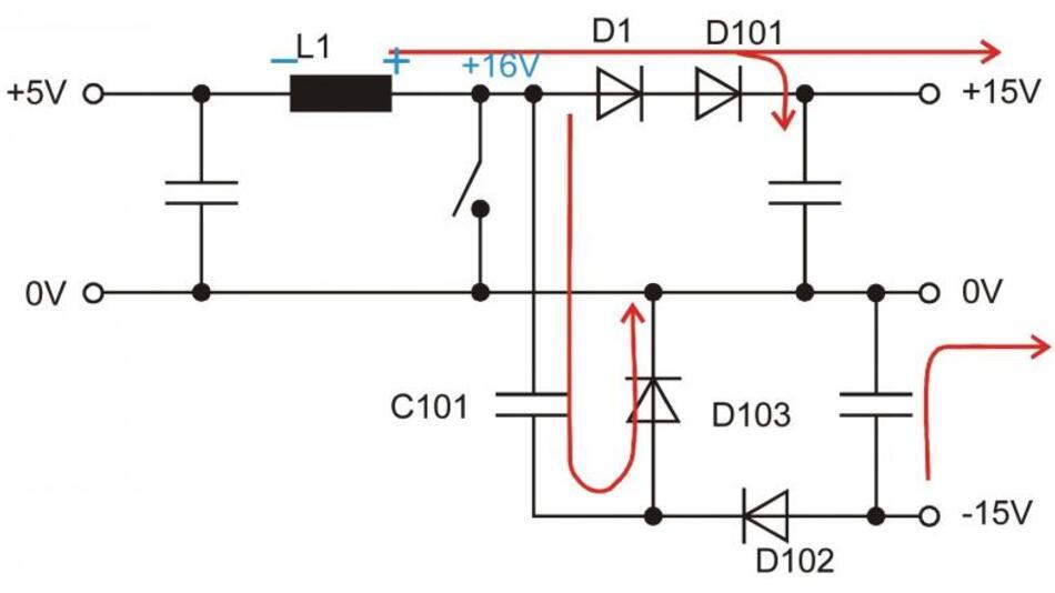 Bild 3: Situation, wenn der MOSFET Q3 sperrt