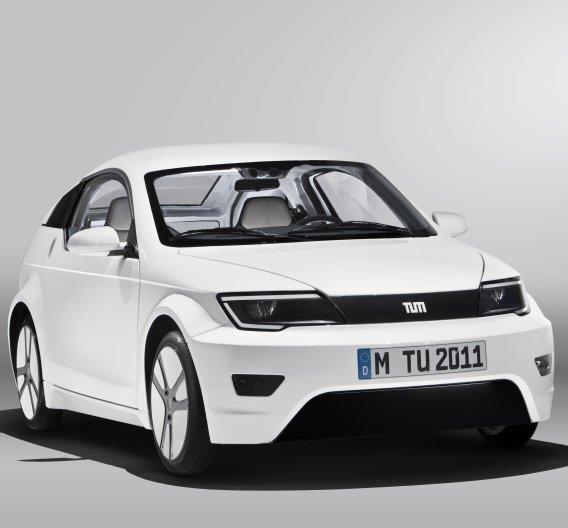 """Vielbeachtet: Der """"MUTE"""", ein Konzeptfahrzeug der TU München mit Elektroantrieb und stimmigem Gesamtansatz"""