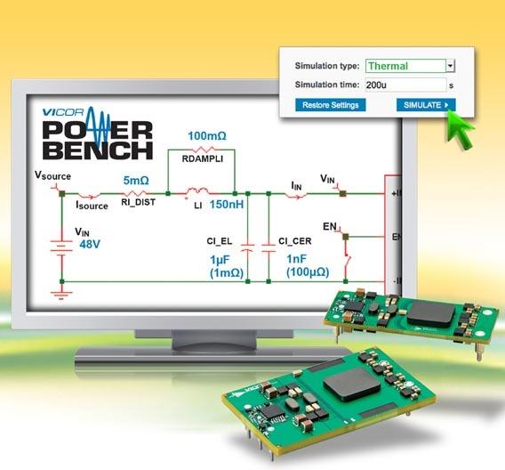 Das IBC Power Simulations-Tool ist Teil des »PowerBench Online Design Center«