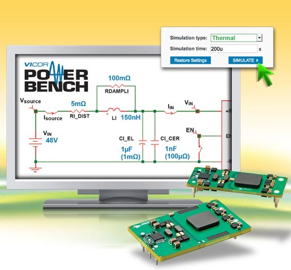Das IBC Power Simulations-Tool ist Teil des »PowerBench Online Design Center«