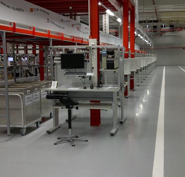 Rund 25.000 Quadratmeter Arbeitsfläche rüstete der Arbeitsplatzausrüster Treston im neuen Avnet Logistic Center in Poing aus.