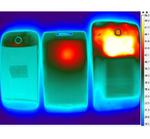 Temperaturbild von MSM8960 (links) im Vergleich zu OMAP 4 (Mitte) und Tegra-3 (rechts), jeweils nach 20 Minuten Ausführung des Benchmarks Dhrystone.
