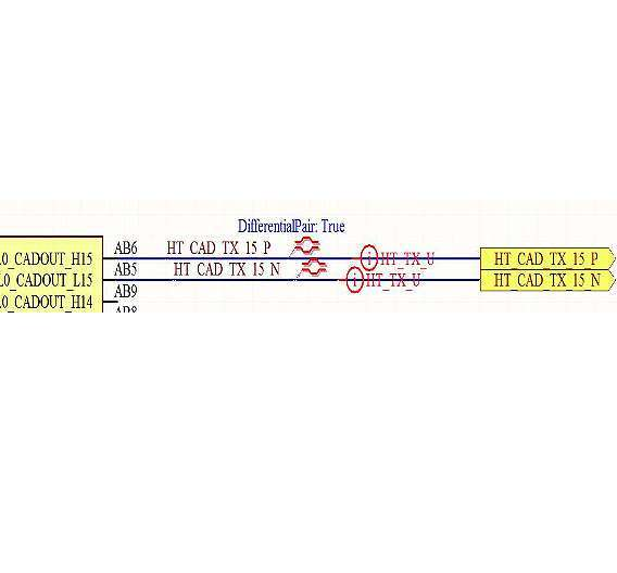 Bild 1: Netzname, Differential-Pair- und Net-Class-Spezifikationen im Schaltplan