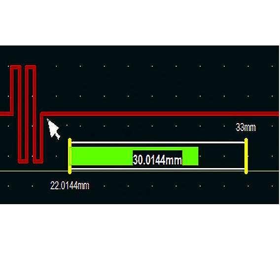 Bild 3: On-Screen-Längenmesser (Gauge) während des »Tunings«