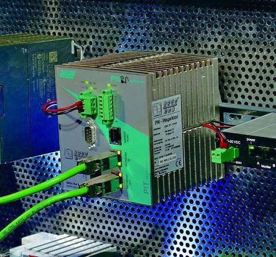 Bild 3: Der als »intelligente« Messstelle entwickelte »Profinet-INspektor« erfüllt sowohl die Aufgaben eines Mess- und Analysewerkzeuges zur Inbetriebnahme als auch die Anforderungen einer permanenten Netzwerküberwachung