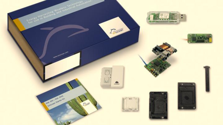 EnOcean GmbH, Starter-Kit ESK 300, Box mit Inhalt