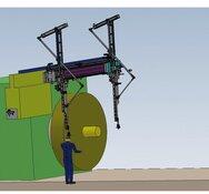 Mit 3 m lichte Weite gilt der  Messschieber von OPW als weltweit größte  Schieblehre