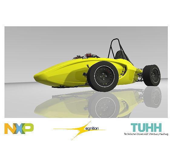Studenten der TU Hamburg bauen Elektroauto.