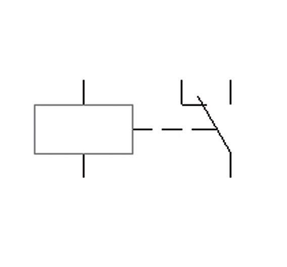 Bild 1. Schaltsymbol eines Relais mit Wechselkontakt (EMR).