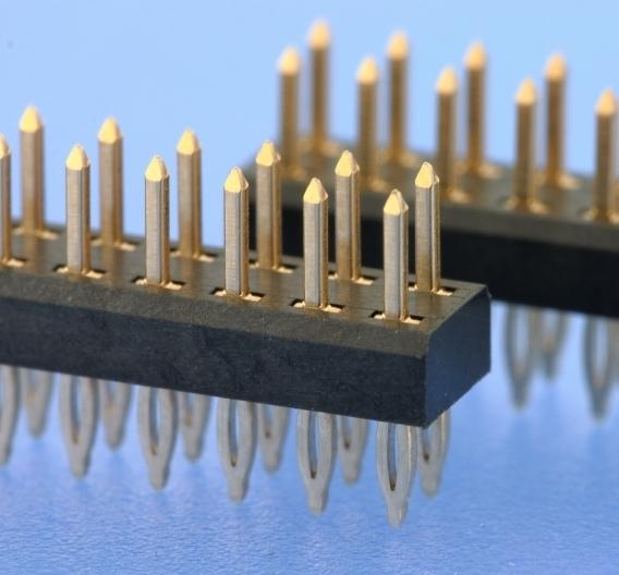Press-Fit-Stiftleisten im 2-mm-Raster