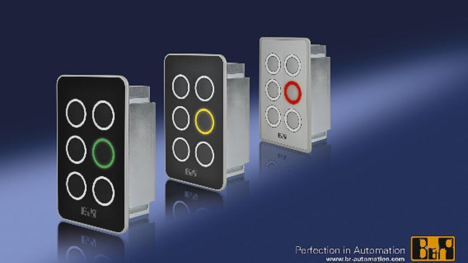 Kompakte Abmessungen im Handyformat und die Ausführung in Schutzart IP65 prädestinieren das neue Bedienelement für den dezentralen Einsatz an der Maschine.