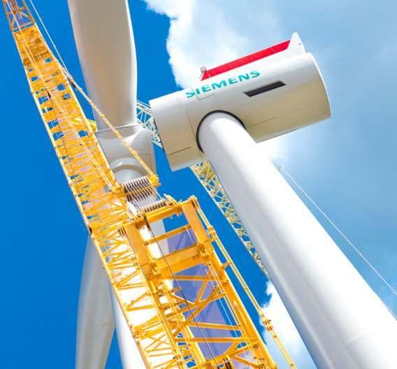 Die neue Siemens-Windturbine mit einer Leistung von sechs Megawatt und einem Rotordurchmesser von 154 Metern ist bereits ein kommerzieller Erfolg: Im Juli 2012 hat Siemens ein Rahmenabkommen mit dem dänischen Energieversorger DONG Energy über die Lieferung von 300 Offshore-Anlagen dieses Typs abgeschlossen. Die Windturbinen sollen vor den Küsten Großbritanniens zum Einsatz kommen