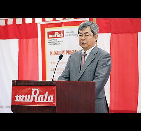Muratas Präsident und Statutory Representative Director Tsuneo Murata hat mit einer feierlichen Zeremonie die Kondensator-Fertigungsstätte auf den Philippinen eröffnet