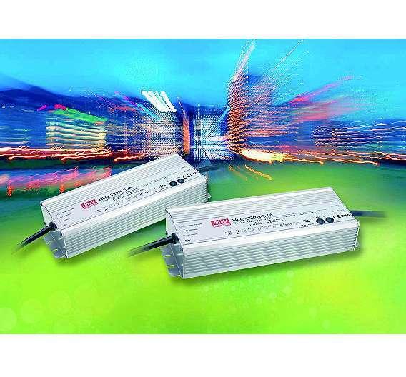 Bild 2: Moderne LED-Stromversorgungen wie die »HLG-320« können die Helligkeit der LED-Beleuchtung per Gleichstrom regeln