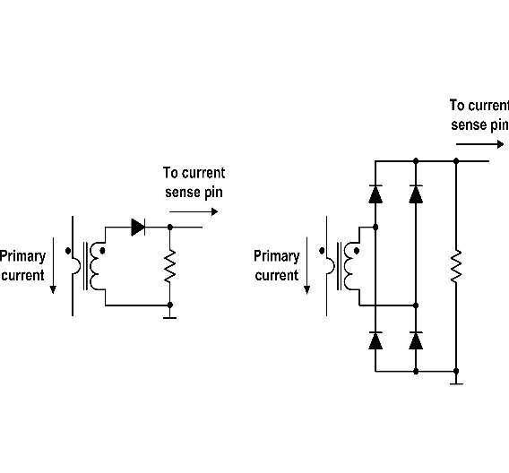 Bild 2: Unipolare und bipolare Strommessung, jeweils von l inks nach rechts