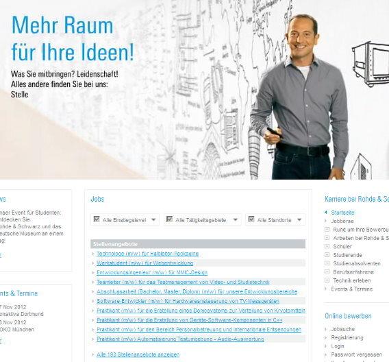 Rohde & Schwarz hat eine neue Karriere-Website