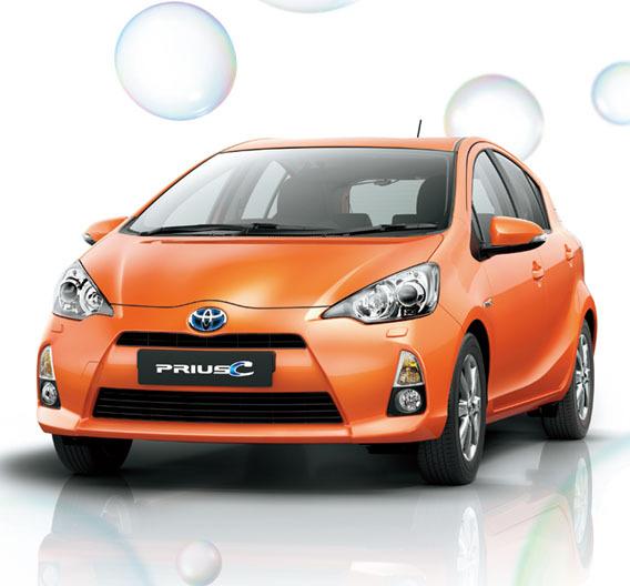 Der Prius C gehört zu Toyotas Hybrid-Flotte. Bis Ende 2015 plant Toyota 20 neue Hybridmodelle.
