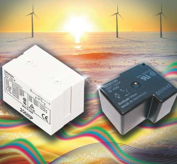 Für erneuerbare Energiesysteme hat Omron seine beiden Low-Power-Relais-Serien G7L-PV (zweipolig) und G8P-BG (einpolig) entwickelt.