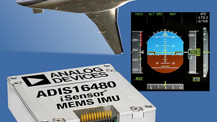 Analog Devices ergänzt sein Portfolio um die MEMS-IMU ADIS16480 mit zehn Freiheitsgraden.