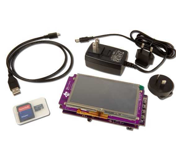Erschwingliche Plattform für Geräte, die eine Touchscreen-Oberfläche erfordern: das »Sitara AM335x ARM Cortex A8 Starter Kit von TI, hat Texas Instruments sein »Sitara AM335x ARM Cortex A8 Starter Kit« entwickelt.