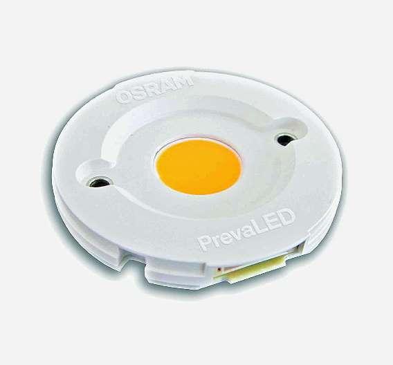 Bild 1: Die »Prevaled«, das erste LED-Modul von Osram, das dem Zhaga-Standard entspricht