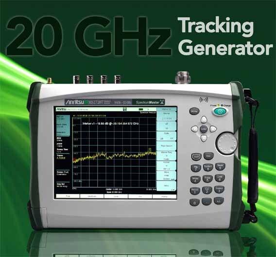 Beachtliche Leistungsdaten bringt der Handheld-Spektrumanalysator der MS2720T-Baureihe mit.