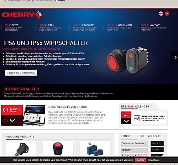 Neue Webseite informiert über Portfolio an Schaltern, Sensoren und Steuerungen