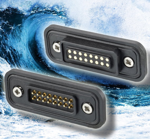 Die als 8-, 12- und 16-polige Standardversion erhältlichen HotShoe-Steckverbinder sind mit Federkontakten ausgestattet und jett auch in Schutzart IP 68 erhältlich.