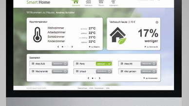 Das Smart-Home-System von GreenPocket lässt sich einfach bedienen