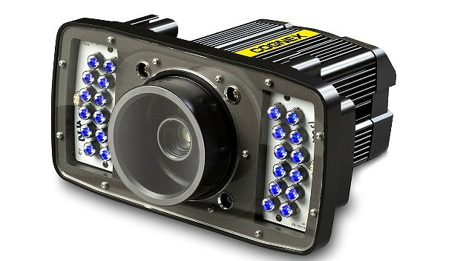Über eine blaue Beleuchtung verfügt der High-End-Codeleser »DataMan 503« von Cognex.