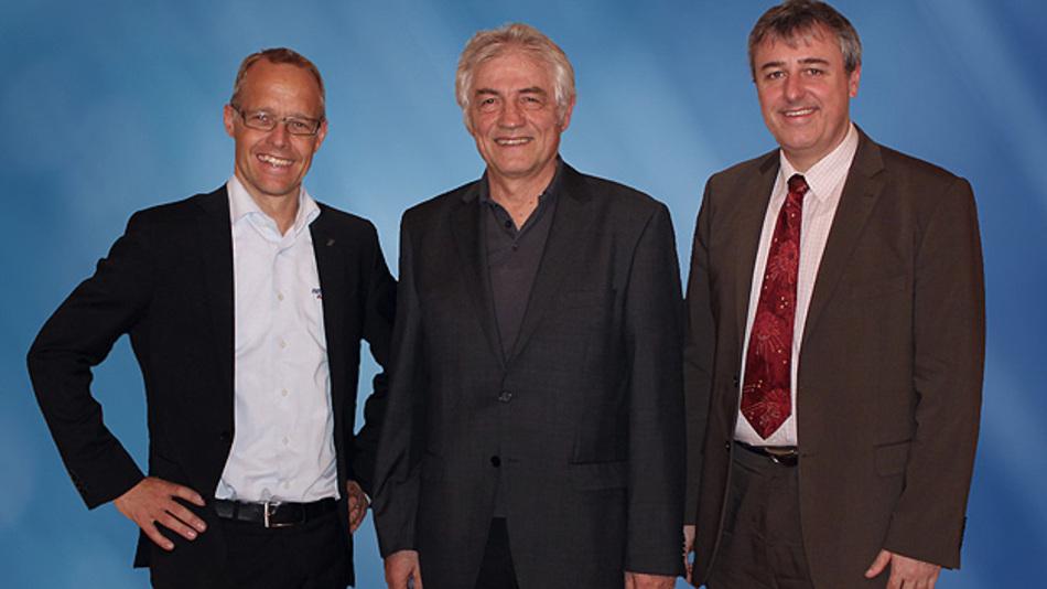 Staffan Dahlström, CEO HMS, Prof. Dr.-Ing. Konrad Etschberger, Gründer Ixxat, und Christian Schlegel, Geschäftsführer Ixxat (v.l.n.r.)