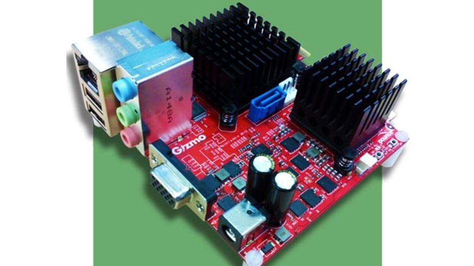 Gizmo-Board: Entwicklungsplattform mit AMD-G-Series APU.