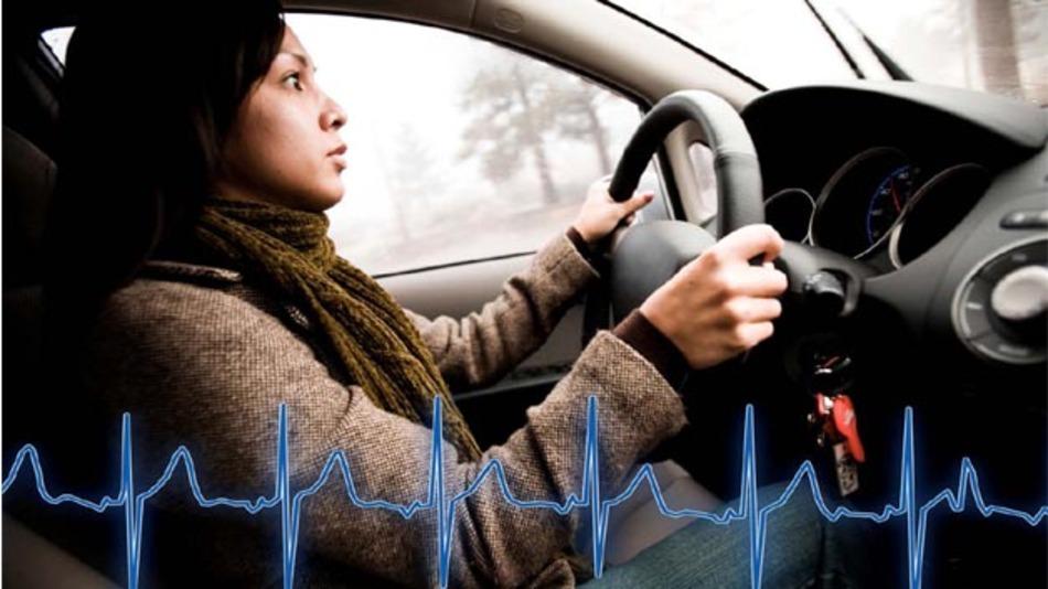 Herzschlagüberwachung durch den Fahrersitz
