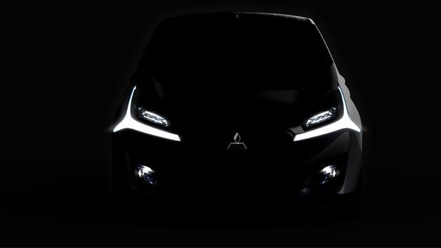 Noch im Dunkeln: Die Konzeptstudie CA-MiEV, die Weiterentwicklung des Mitsubishi i-MiEV.