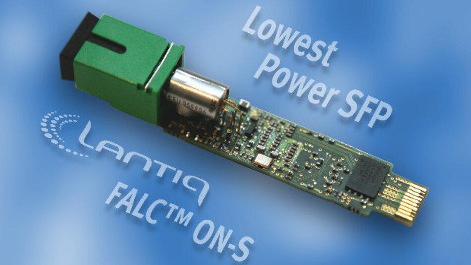 Lantiq bietet mit »Falc On-S« eine GPON-SoC-Lösung für Platz sparende SFP-Module an.