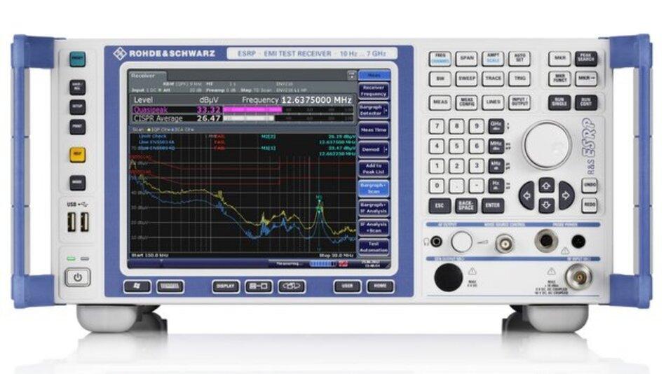 Rohde & Schwarz EMVR&S ESRP: EMV-Messempfänger und Spektrumanalysator zugleich