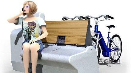 Sitzbank und Ladestelle in einem