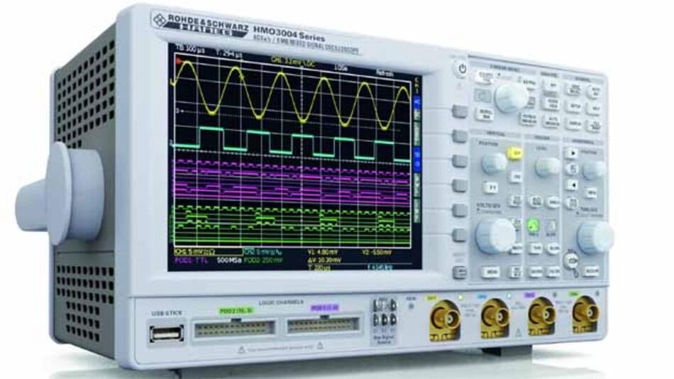 Die neuen Scopes der HMO3000-Serie erweitern den bisher bis 200 MHz  reichenden Bandbreitenbereich der HMO-Serie bis hinauf zu 500 MHz.