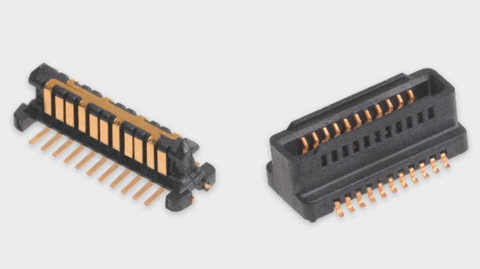 Mit Stapelhöhen von 4,00 bis 10,00 mm im gesteckten Zustand und einem Rastermaß von 0,80 mm empfiehlt Molex den SpeedStack vor allem dann, wenn wenig Platz auf der Leiterplatte ist.