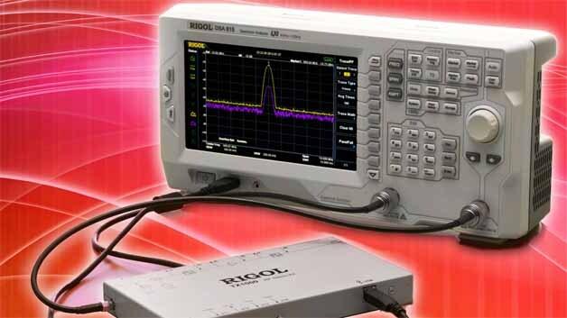 Bis 1,5 GHz und nun mit neuen Optionen (z.B. Tracking-Generator) arbeitet der Low-cost-Spektrumanalysator DSA815-TG