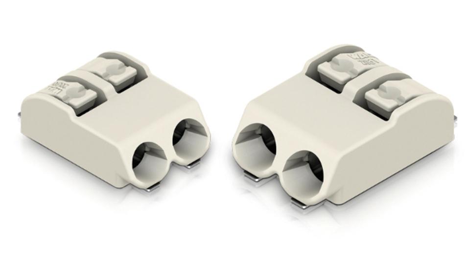 Die Leiterplattenklemmen der Serie 2061 von Wago eignen sich für den Einsatz in Industrie und LED-Modulen.
