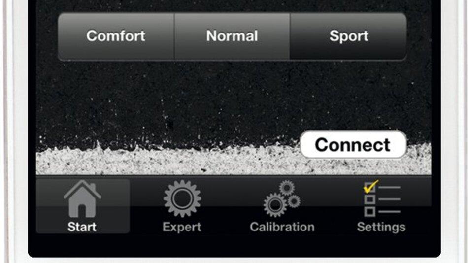Fahrwerkeinstellung einfach per App beeinflussen.