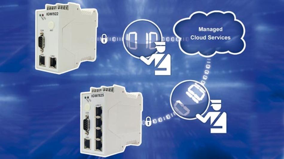 Security-Router stellen VPN-Verbindungen zum Sicherheitsserver her.