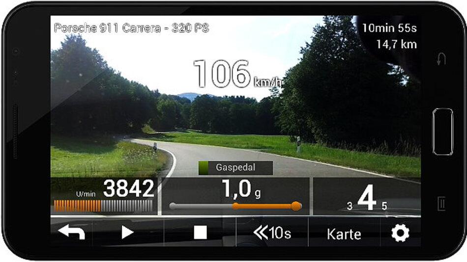 Videowiedergabe auf dem Smart Phone.
