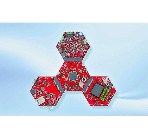 Bild 2: »Hexagon«-Entwicklungsboards für Infineons ARM-Mikrocontrollerfamilie »XMC4500«