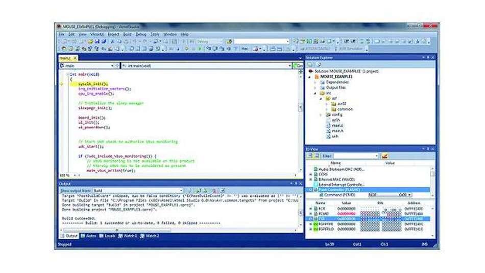 Bild 1: Kontextsensitive Code-Bearbeitung in »Studio 6« von Atmel