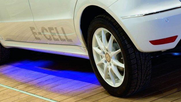 Drahtlose Ladetechnik für Elektrofahrzeuge.