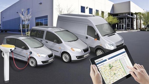 eMobility Services erlauben es, einen Fuhrpark mit Elektroautos verschiedener Hersteller zu betreiben.